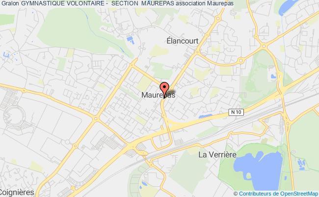 plan association Gymnastique Volontaire -  Section  Maurepas Maurepas