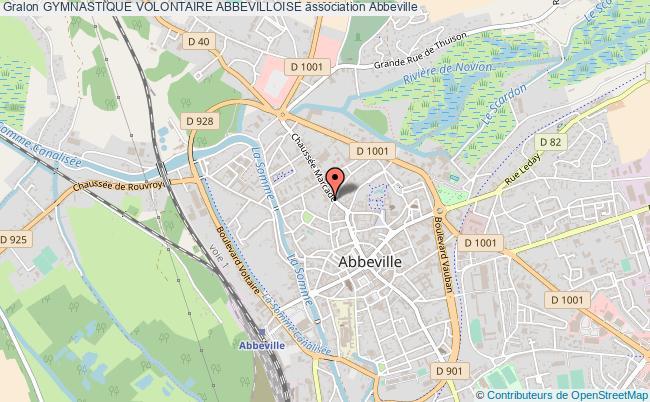 plan association Gymnastique Volontaire Abbevilloise