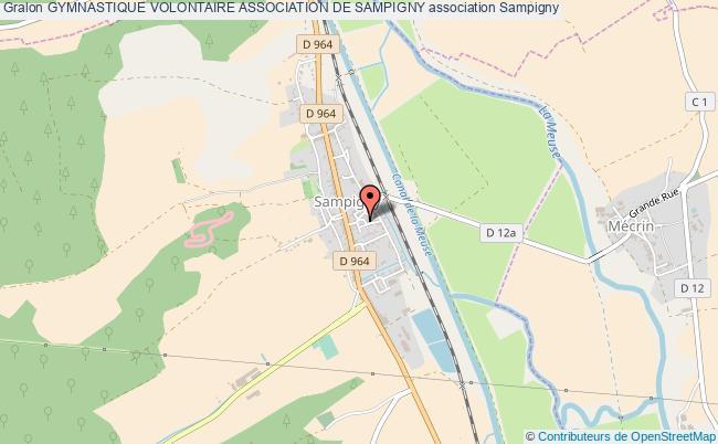 plan association Gymnastique Volontaire Association De Sampigny