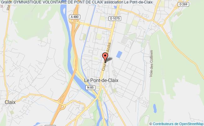 plan association Gymnastique Volontaire De Pont De Claix