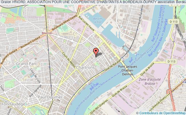 plan association H'nord, Association Pour Une Cooperative D'habitants A Bordeaux-dupaty