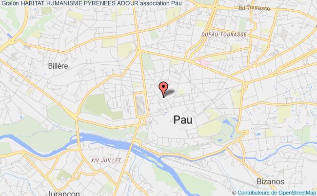 plan association Habitat Humanisme Pyrenees Adour