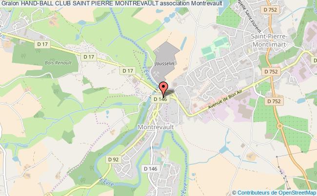 plan association Hand-ball Club Saint Pierre Montrevault