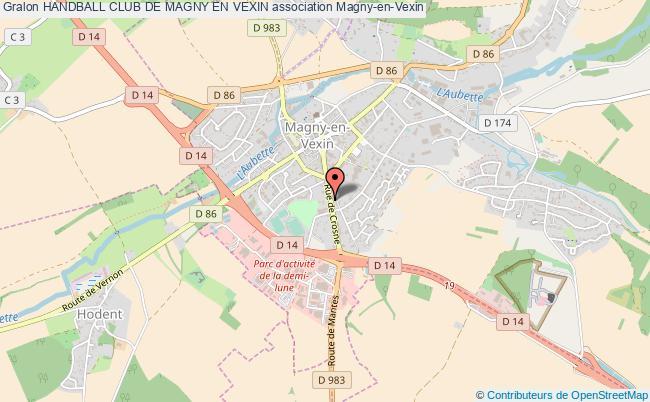 plan association Handball Club De Magny En Vexin Magny-en-Vexin