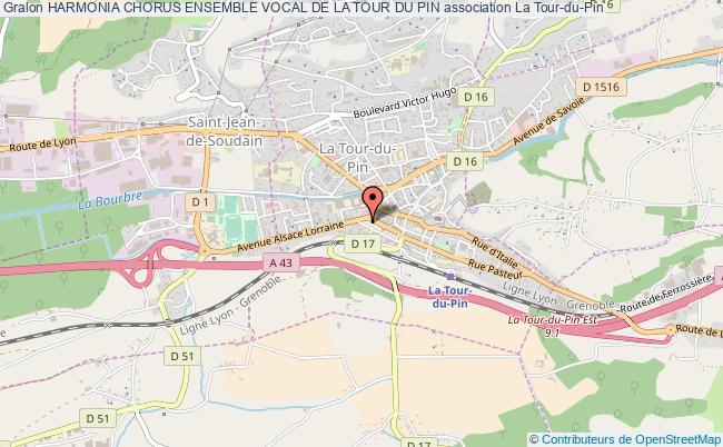 plan association Harmonia Chorus Ensemble Vocal De La Tour Du Pin La Tour-du-Pin