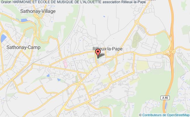 plan association Harmonie Et Ecole De Musique De L'alouette
