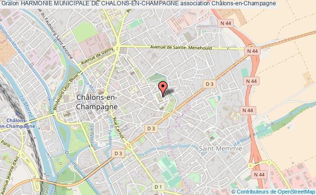 plan association Harmonie Municipale De Chalons-en-champagne