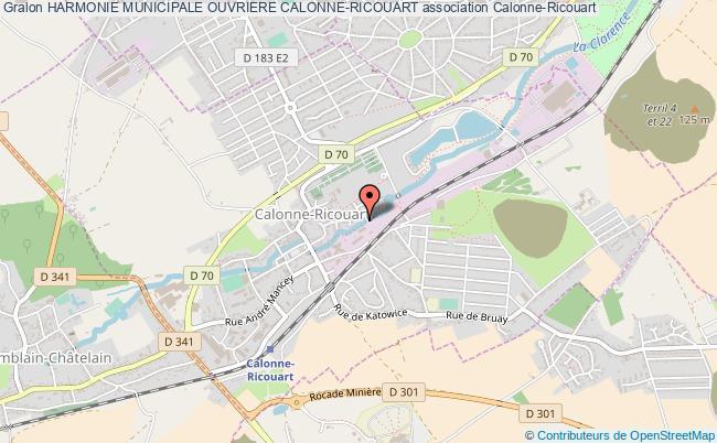 plan association Harmonie Municipale Ouvriere Calonne-ricouart