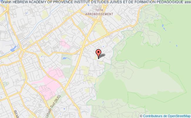 plan association Hebrew Academy Of Provence Institut D'etudes Juives Et De Formation Pedagogique Marseille
