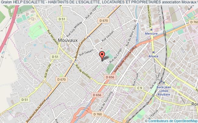 plan association Help Escalette - Habitants De L'escalette, Locataires Et PropriÉtaires