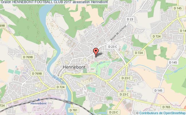 plan association Hennebont Football Club 2017 Hennebont