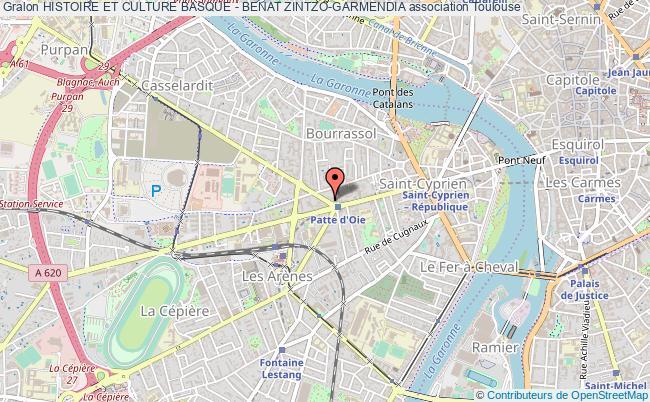 plan association Histoire Et Culture Basque - Benat Zintzo-garmendia
