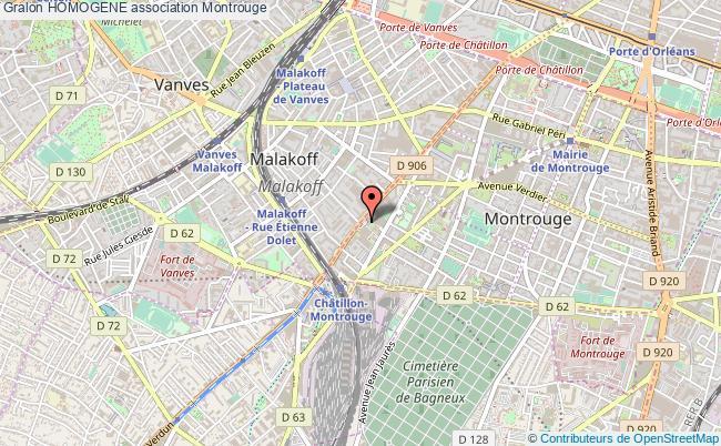 plan association Homogene Montrouge