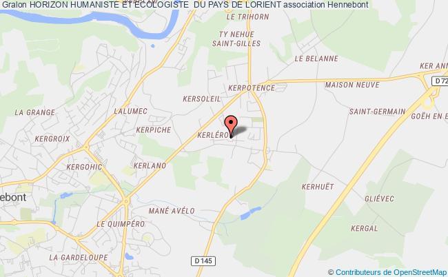 plan association Horizon Humaniste Et Ecologiste  Du Pays De Lorient Hennebont
