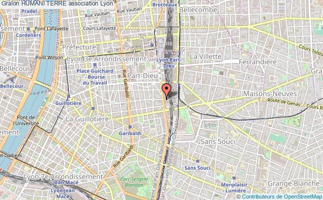 plan association Humani Terre Lyon 3e Arrondissement