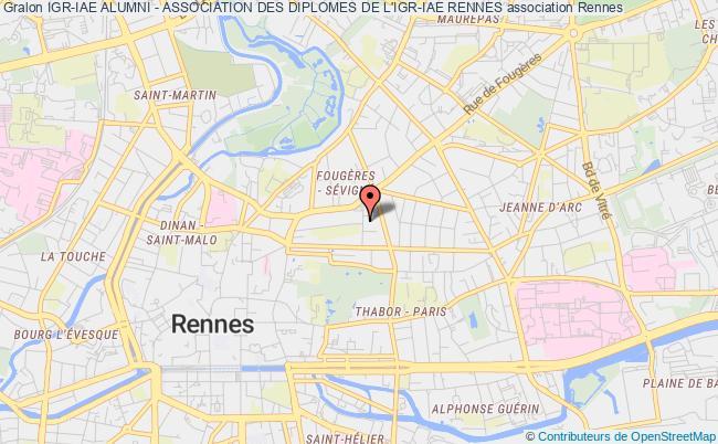 plan association Igr-iae Alumni - Association Des Diplomes De L'igr-iae Rennes