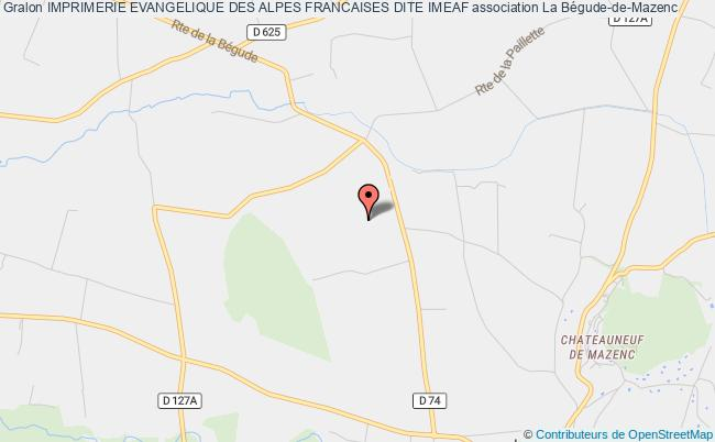 plan association Imprimerie Evangelique Des Alpes Francaises Dite Imeaf La Bégude-de-Mazenc