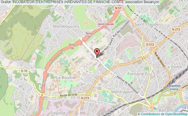 plan association Incubateur D'entreprises Innovantes De Franche-comte