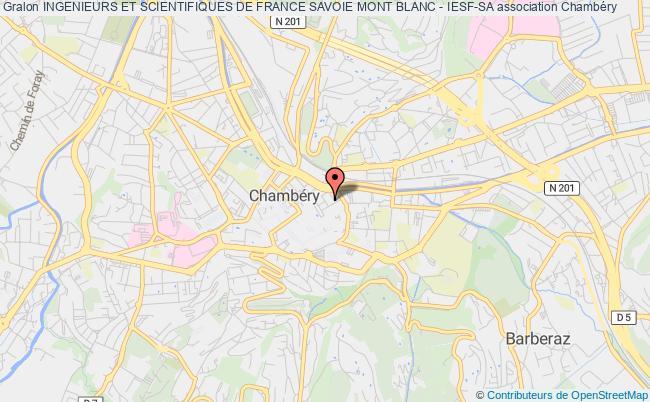 plan association Ingenieurs Et Scientifiques De France Savoie Mont Blanc - Iesf-sa