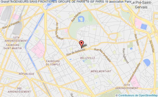 plan association Ingenieurs Sans Frontieres Groupe De Paris 19 Isf Paris 19