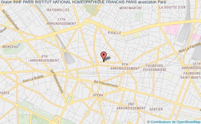 plan association Inhf Paris Institut National Homeopathique Francais Paris