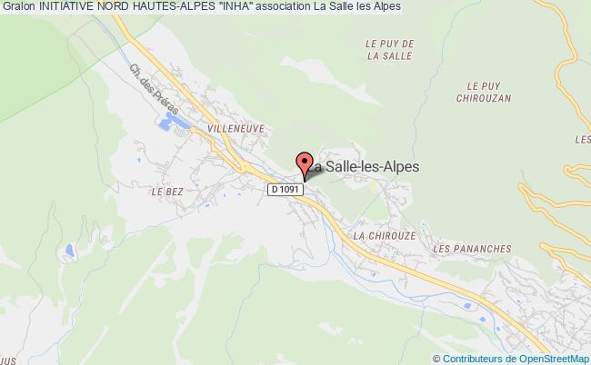 """plan association Initiative Nord Hautes-alpes """"inha"""" La Salle-les-Alpes"""