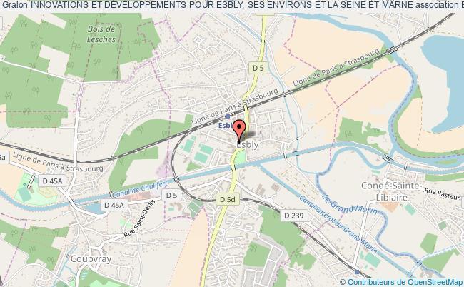 plan association Innovations Et DÉveloppements Pour Esbly, Ses Environs Et La Seine Et Marne Esbly