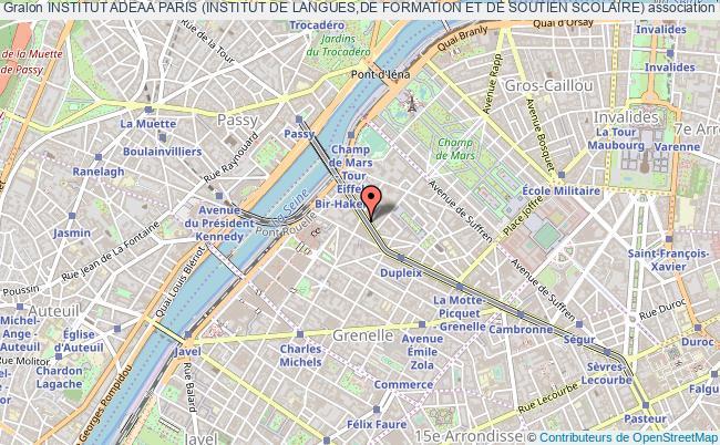 plan association Institut Adeaa Paris (institut De Langues,de Formation Et De Soutien Scolaire)