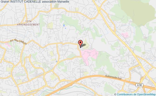 plan association Institut Cadenelle Marseille cedex 12
