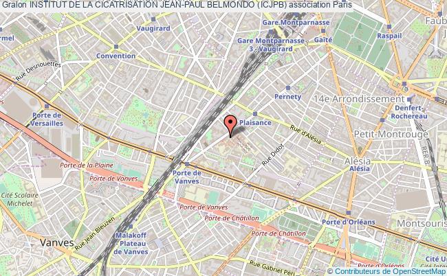 plan association Institut De La Cicatrisation Jean-paul Belmondo (icjpb) Paris