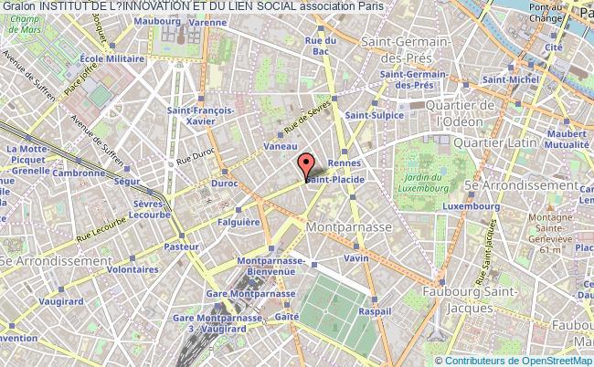 plan association Institut De L?innovation Et Du Lien Social Paris