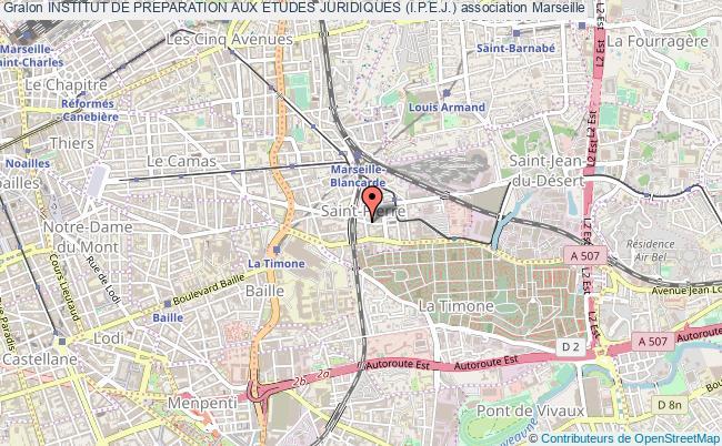 plan association Institut De Preparation Aux Etudes Juridiques (i.p.e.j.) Marseille