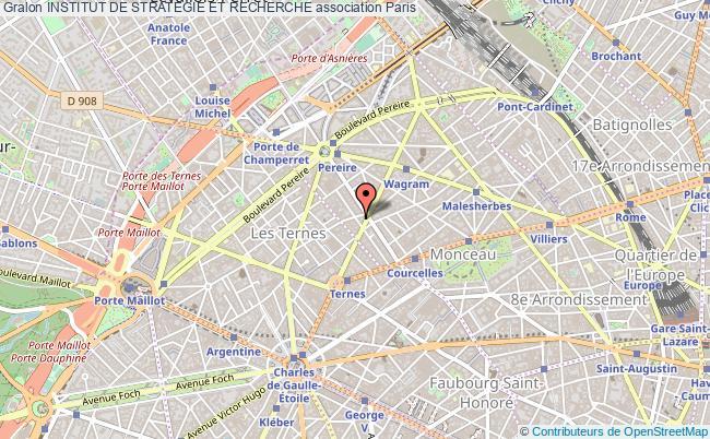 plan association Institut De Strategie Et Recherche Paris