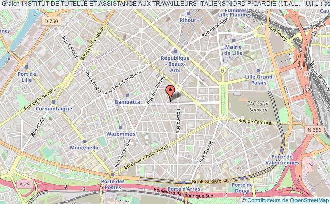 plan association Institut De Tutelle Et Assistance Aux Travailleurs Italiens Nord Picardie (i.t.a.l. - U.i.l.)