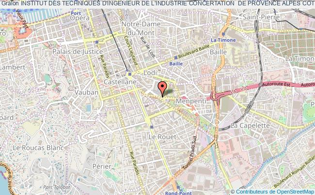 plan association Institut Des Techniques D'ingenieur De L'industrie Concertation  De Provence Alpes Cote D'azur (itii Paca) Marseille cedex 20