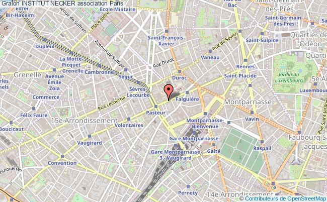 plan association Institut Necker Paris 15e