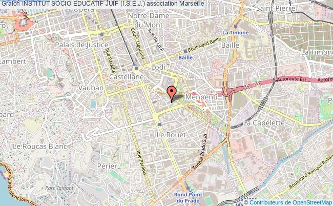 plan association Institut Socio Educatif Juif (i.s.e.j.) Marseille