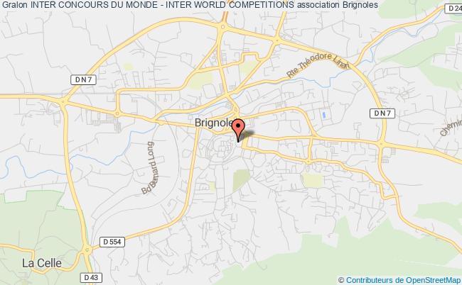 plan association Inter Concours Du Monde - Inter World Competitions