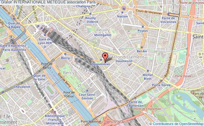 plan association Internationale Meteque Paris 12e