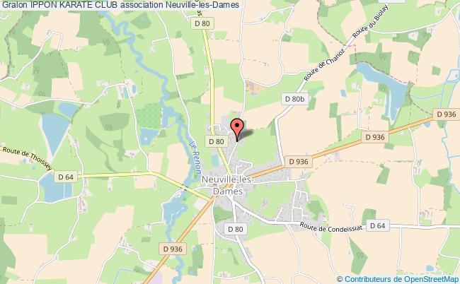 plan association Ippon Karate Club Neuville-les-Dames