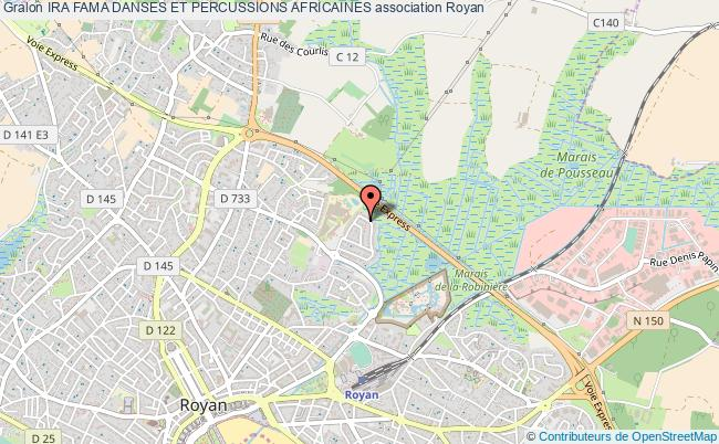 plan association Ira Fama Danses Et Percussions Africaines Royan