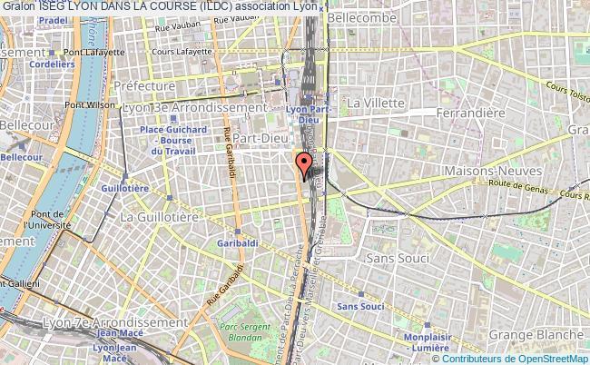 plan association Iseg Lyon Dans La Course (ildc) Lyon 3e Arrondissement