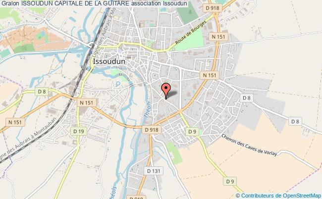 plan association Issoudun Capitale De La Guitare Issoudun