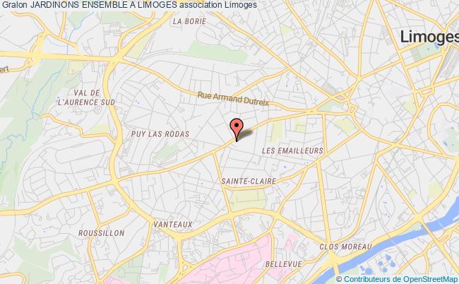 plan association Jardinons Ensemble A Limoges
