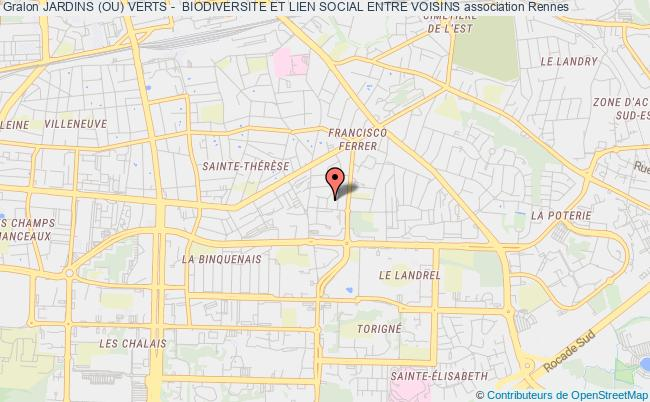 plan association Jardins (ou) Verts -  Biodiversite Et Lien Social Entre Voisins Rennes