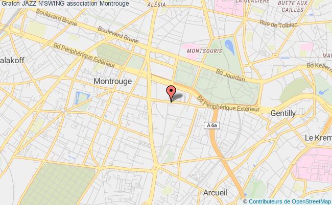 plan association Jazz N'swing Montrouge