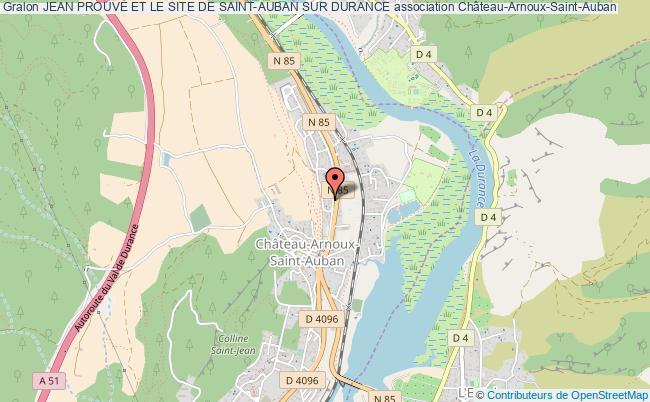 plan association Jean ProuvÉ Et Le Site De Saint-auban Sur Durance