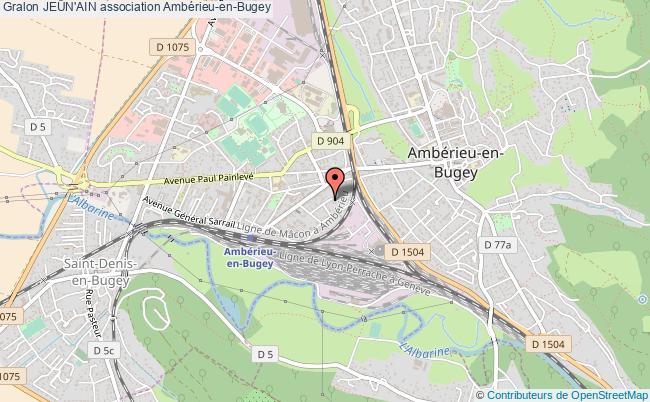 plan association JeÛn'ain Ambérieu-en-Bugey