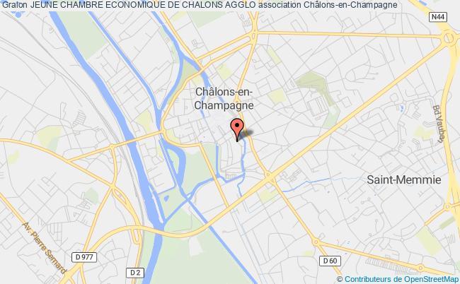 plan association Jeune Chambre Economique De Chalons Agglo