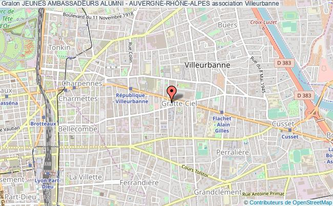 plan association Jeunes Ambassadeurs Alumni - Auvergne-rhÔne-alpes